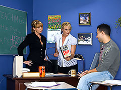 Bouncing Boobs, Sindy Lange, Roxy Anne & Mikey Butders as Sexy Teacher