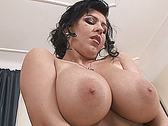 Breasts Movies, Big, bouncy-breasted Kora toys and poses for you