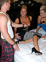 Kelly and Monica are punk rock sluts that take what they want, cock and cum!