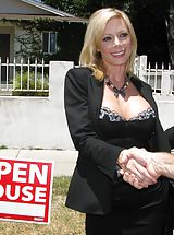 Busty Mature, MILF whore gets fucked on the day of OPEN HOUSE and humiliated!