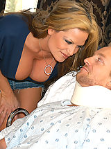 Teens Pics: Kelly Madison hired Holly Morgan as Ryan's nurse when a not so broken cock popped out from under the sheets.