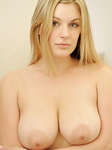 Big Busty, Danielle strips down and showers her pussy and titties