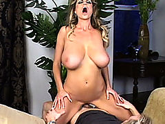 Bouncing Boobs, Kelly gets her tits and pussy pounded on a chaise lounge.