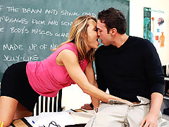Bouncing Boobs, Brenda James & Rocco Reed as Sexy Teacher