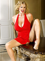Kelly Madison, Kelly celebrates her B-day in a red Marilyn dress.