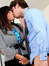 Milf Pics: Lisa Ann is very impressed with how much Seth has improved that she gave him a raise... in his pants.