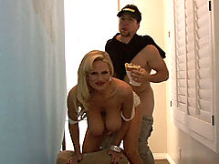 Hairy Pussy, Kelly does a Studway commercial and gets busted for fooling around with the sandwich boy on set.