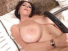 Babes Vids: Big boobed Merilyn plays with herself in a maid uniform