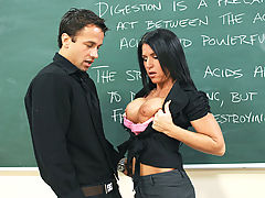 Bouncing Boobs, Kendra Secrets & Alan Stafford as Sexy Teacher