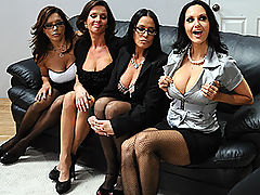 Group Sex, Brazzers Porn Office 4-Play