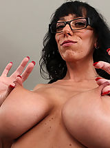 Black Busty, Hot brunette teacher Alia Janine swallows cock on her desk and gets her tight pussy pumped.