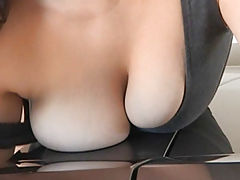 Bouncing Boobs, Rikki busty girl got naked in the car