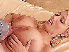 Bigtit Videos, Big breasted blond tit fucked and jizzed by a stud