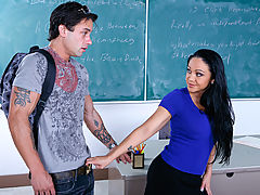 nice funbags, Cherokee & Alan Stafford as Sexy Teacher