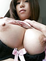 Busty Housewives, Horny Haduki shows off her big tits