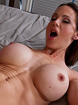 Hot brunette MILF loves to swallow cock and take a good fucking.