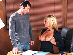 nice hooters, Val Malone & Joey Brass as Sexy Teacher