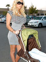 Busty Pics, Kelly brings home Britney and Ryan doesn't know if to freak out or fuck, he figures it out and fucks them on the baby stroller.