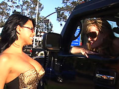 Hairy Vids: Content of Eva Angelina - On my way to the local biker bar to meet up with my husband I came across one hot mama on the side of the road. I told her she would look even hotter sitting on the back of my man's bike. I called him up and she jumped on...