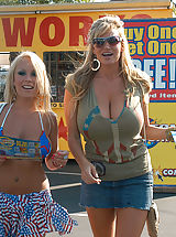 Kelly Madison, Kelly Madison and Jessica Moore get fucked for 4th of July and wear star pasties.