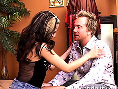 Huge Tits, August comes by the office to satisfy Ryan's urges to drop a big load on her face.