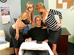 Bigtits Officesex, Brooke Banner, Julia Ann & Justice Young as Sexy Teacher