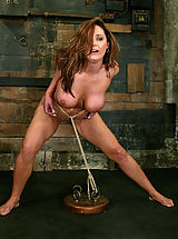 Big Tits Fetish, Huge boobed Christina Carter is bound and forced to cum.
