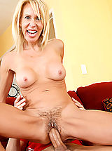 Busty Mature, Horny blonde mom Erica Lauren cant get enough cock