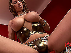 Breasts Movies, Katarina's heavy suckable tits under the Xmas tree