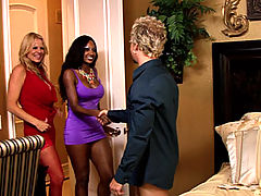 Kelly loves watching a black ass bounce up and down on her husbands dick.