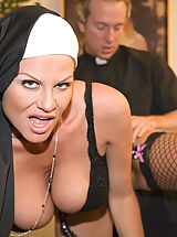Huge.Tits Pics: Kelly the nun takes father Ryans virginity.