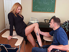 Bouncing Boobs, Roxanne Hall & JMac as Sexy Teacher