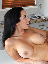 Busty brunette girl meet stranger and they have hot orgasmic sex with each other.