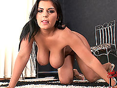little tits, Busty Jasmine Black's kinky masturbation with toy
