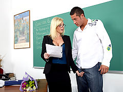 nice melons, Holly Sampson & Danny Mountain as Sexy Teacher