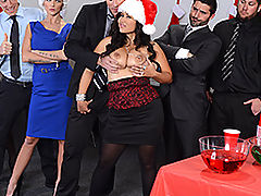 Bouncing Boobs, Brazzers Free Office Christmas Celebration