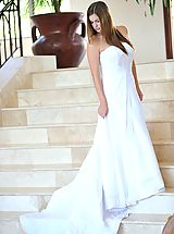 FTV Girls, Danielle poses in a long white gown