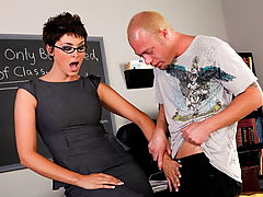 Hard Nipples, Charlie James & Jenner as Sexy Teacher