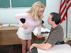 nice boobs, Andrea Jaxxx & Trent Soluri as Sexy Teacher