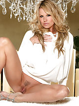 nice melons, Kelly masturbates by candle light while using a crystal dildo.