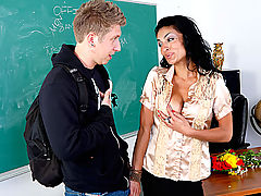 Bouncing Boobs, Persia Pele & Danny Wylde as Sexy Teacher